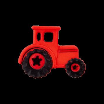 Kinderknopf - Traktor, Rot