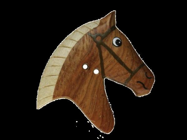 Holzknopf `Karlchen das Pferd