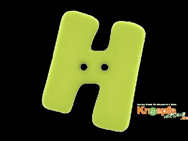 Buchstabenknopf H - grün