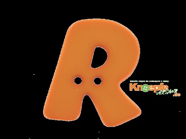 Buchstabenknopf R - orange