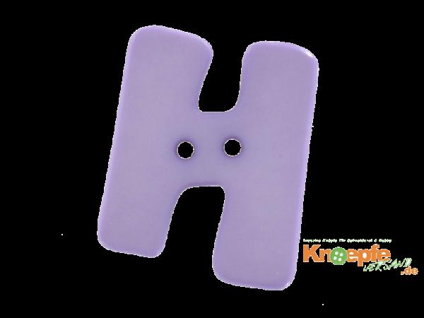 Buchstabenknopf H - lila