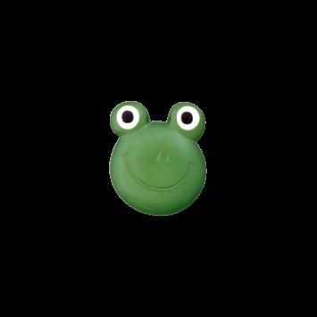 Kinderknopf `Frosch`, dunkelgrün