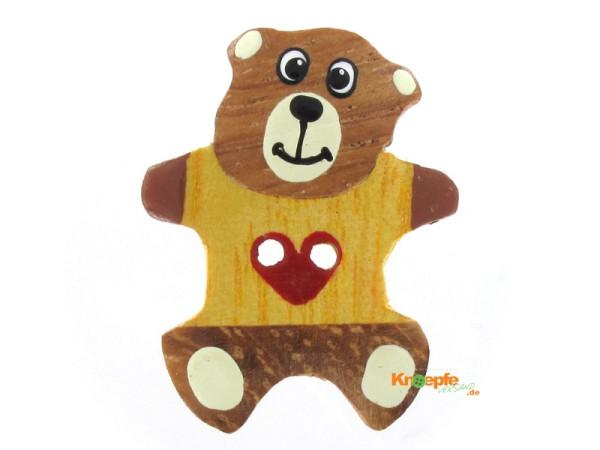 Holzknopf `Teddybär`