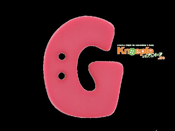 Buchstabenknopf G - pink