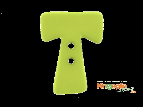 Buchstabenknopf T - grün