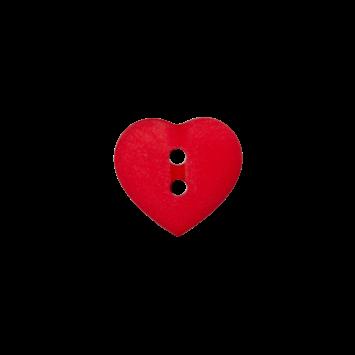 Kinderknopf `Herz`- Rot