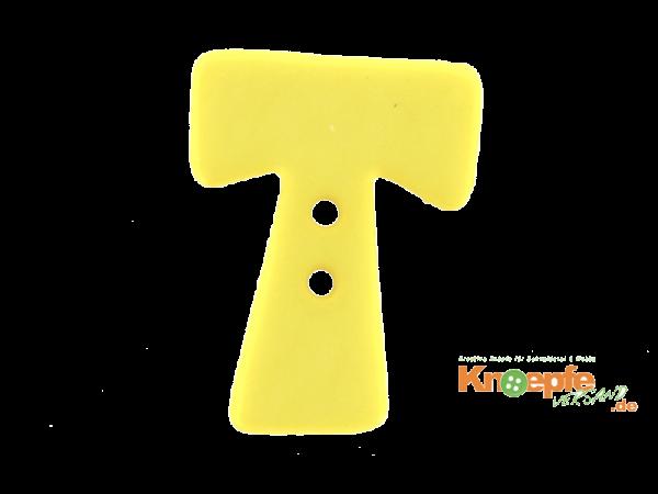 Buchstabenknopf T - gelb