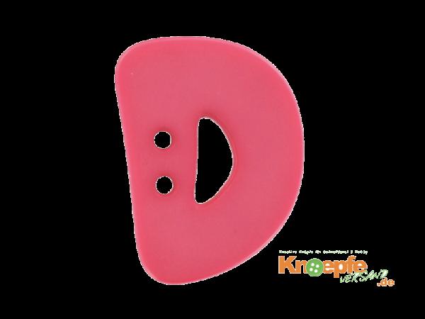 Buchstabenknopf D - pink