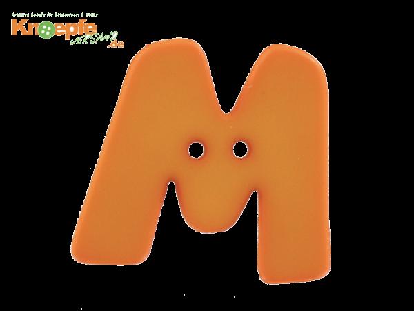 Buchstabenknopf M - orange
