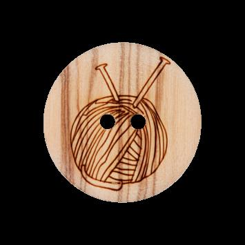 Holzknopf `Wollknäul`