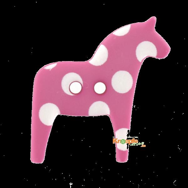 Kinderknopf - `Dala-Pferdchen`- Pink