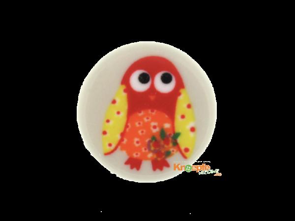 Kinderknopf `Piepmatz` - Cremeweiß