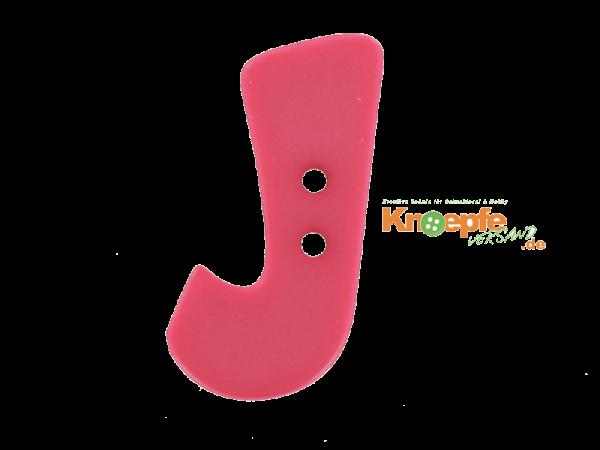 Buchstabenknopf J - pink
