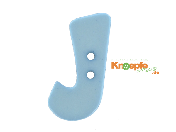 Buchstabenknopf J - hellblau