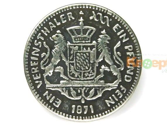 Metallknopf `Vereinsthaler 1871`, 28mm