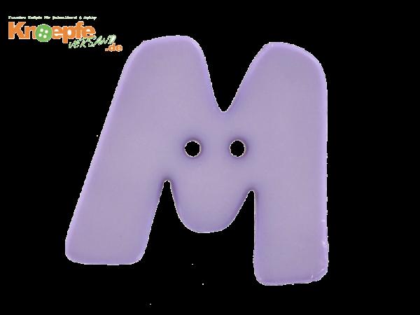 Buchstabenknopf M - lila