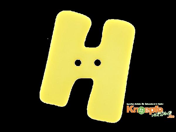 Buchstabenknopf H - gelb