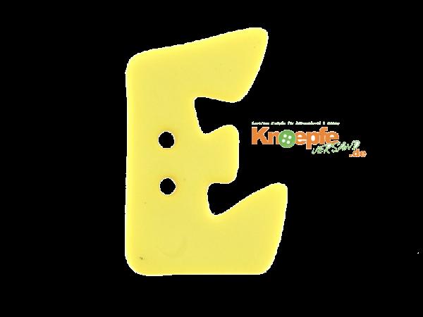 Buchstabenknopf E - gelb