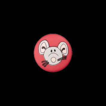 Kinderknopf`Maus`, rot